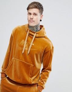 Золотистый велюровый худи Nike AH3384-722 - Золотой