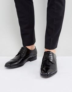 Черные кожаные туфли дерби ALDO Galerrange - Черный