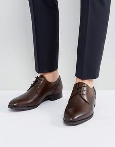 Коричневые кожаные туфли дерби ALDO - Коричневый