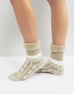 Слиперы-носки с узором Free People - Кремовый