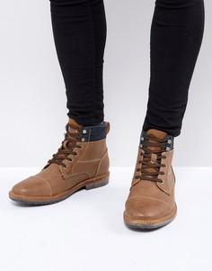 Светло-коричневые ботинки на шнуровке Call It Spring - Рыжий