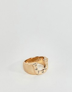 Кольцо с подковой ASOS - Золотой