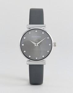 Часы с серым кожаным ремешком Sekonda 2470 - Черный