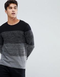 Джемпер в полоску из 100% хлопка Esprit - Черный