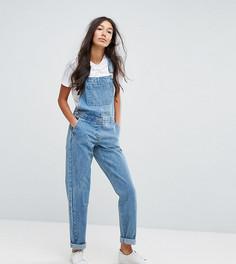 Синий выбеленный джинсовый комбинезон ASOS TALL - Синий