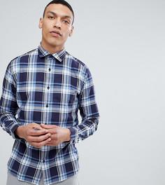 Зауженная рубашка в клетку Selected Homme - Синий