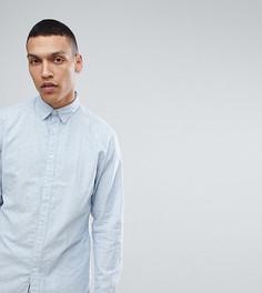 Оксфордская рубашка узкого кроя в мелкий горошек Selected Homme - Синий