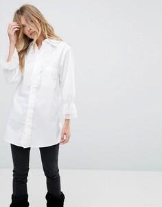 Рубашка с кружевной отделкой Anna Sui Vine - Белый