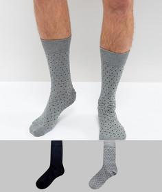 Набор из 2 пар носков с принтом в горошек Selected Homme - Мульти