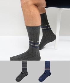 2 пары носков в полоску Selected Homme - Мульти