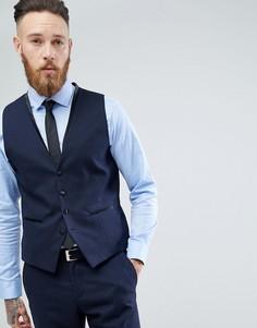 Приталенный жилет Selected Homme - Темно-синий