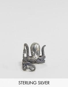 Серебряное кольцо с осьминогом ASOS - Серебряный