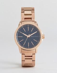 Розово-золотистые часы-браслет Armani Exchange AX4352 - Золотой