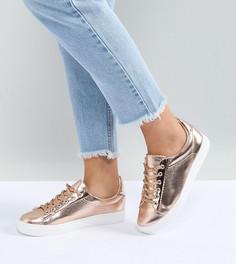 Золотисто-розовые кроссовки для широкой стопы Lost Ink - Золотой