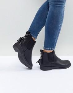 Черные ботинки челси с кисточками Lost Ink - Черный