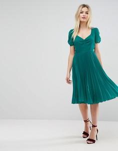 Платье миди со складками ASOS - Зеленый