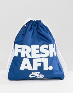 Синяя сумка на затягивающихся шнурках Nike Air Force 1 BA5430-425 - Синий