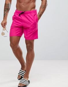 Розовые шорты для плавания средней длины ASOS - Розовый