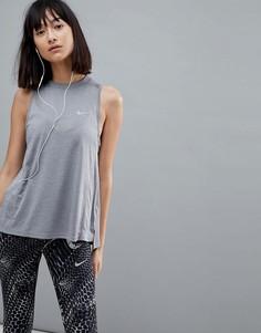 Серый топ Nike Running Dry Miler - Серый