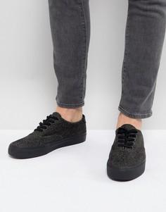 Черные кеды на шнуровке ASOS - Серый
