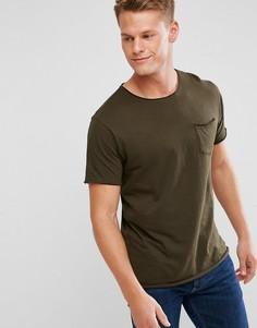 Базовая футболка с необработанными краями Brave Soul - Зеленый