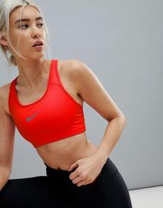 Красный спортивный бюстгальтер со средней степенью поддержки Nike Training - Красный
