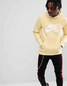 Худи желтого цвета Nike SB 846886-721 - Желтый