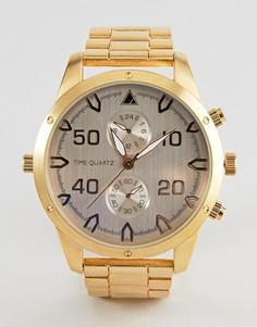 Золотистые часы с дополнительными цифрблатами ASOS - Золотой