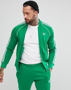 Зеленая спортивная куртка adidas Originals adicolor CW1259 - Зеленый