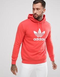 Худи красного цвета с логотипом-трилистником adidas Originals adicolor CW1899 - Красный