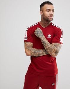 Бордовая футболка adidas Originals adicolor California CZ4544 - Красный