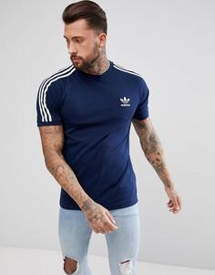 Темно-синяя футболка adidas Originals adicolor California CZ4546 - Темно-синий
