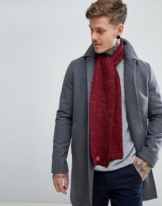 Бордовый шарф с узором косичка Dead Vintage - Красный