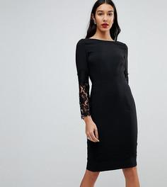 Платье-футляр с кружевными рукавами Paper Dolls Tall - Черный