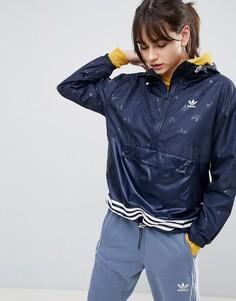 Темно-синяя ветровка adidas Originals adicolor - Темно-синий