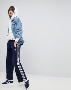 Темно-синие широкие брюки adidas Originals adicolor - Темно-синий