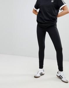 Черные леггинсы с логотипом-трилистником adidas Originals adicolor - Черный