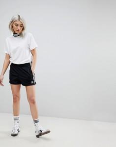 Черные шорты с тремя полосками adidas Originals adicolor - Черный