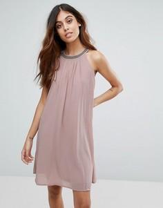 Декорированное платье А-силуэта Vero Moda - Розовый