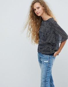 Топ с плиточным принтом Pepe Jeans - Мульти