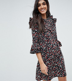 Платье с оборками и цветочным принтом Influence Tall - Мульти