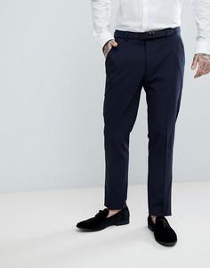 Темно-синие зауженные брюки под смокинг ASOS - Темно-синий