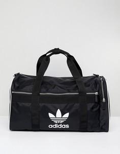 Дорожная сумка с логотипом-трилистником adidas Originals - Черный