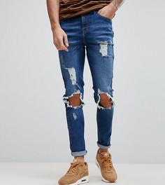 Рваные обтягивающие джинсы Brooklyn Supply Co - Синий
