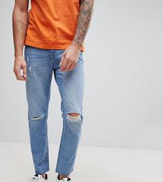 Узкие джинсы с заплатками Brooklyn Supply Co - Синий