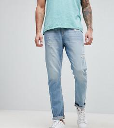 Суженные книзу джинсы с потертостями Brooklyn Supply Co - Черный