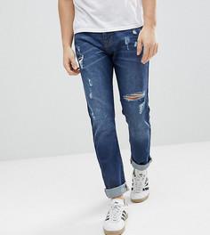 Синие суженные книзу джинсы в стиле 90-х с рваной отделкой Brooklyn Supply Co - Синий