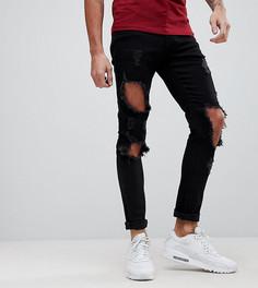 Состаренные джинсы скинни Brooklyn Supply Co - Синий