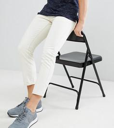 Светло-бежевые укороченные джинсы слим Brooklyn Supply Co. - Синий