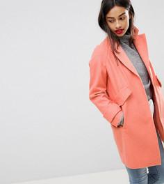 Пальто с карманами ASOS PETITE - Розовый